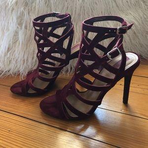 Velvet Red Heels from Forever 21
